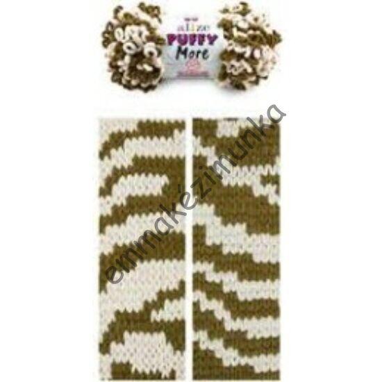 Puffy more 6264 khaki-ekrü