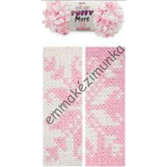 Puffy more 6267 rózsaszín-fehér
