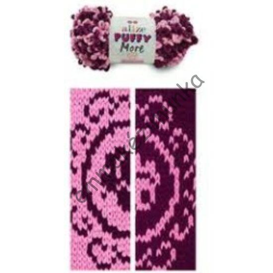 Puffy more 6278 rózsaszín-padlizsán