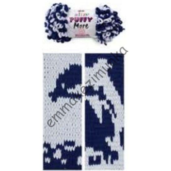 Puffy more 6279 szürke-kék