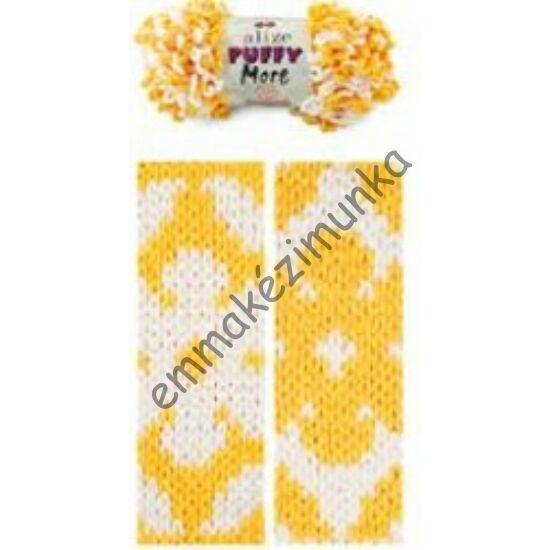 Puffy more 6282 sárga-fehér