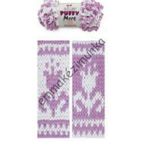 Puffy more 6283 lila-fehér