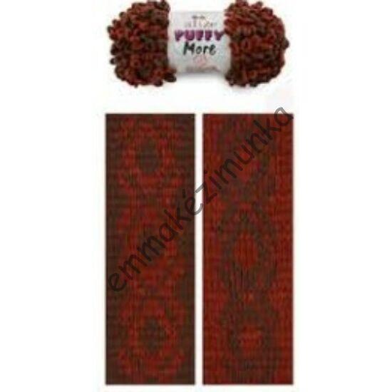 Puffy more 6290 rozsda-barna