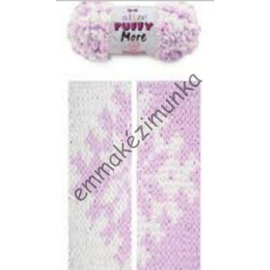 Puffy more 6291 lila-fehér
